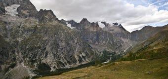 Panoramic Italian Alps stock photo