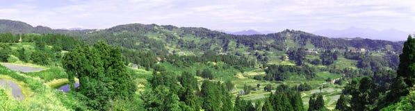 Panoramic Japanese Mountain Vista Royalty Free Stock Photography