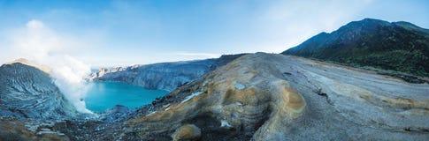 Panoramic, Kawah Ijen popular landmark in indonesia Stock Images