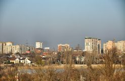 Panoramic of Krasnodar city, cityscape Royalty Free Stock Photography