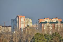 Panoramic of Krasnodar city, cityscape Stock Image