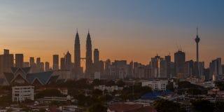 Panoramic of Kuala Lumpur City at Sunrise (2x1) Stock Photo
