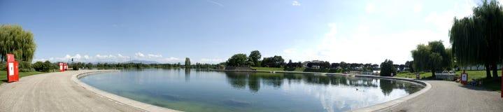 Panoramic of a Lake Royalty Free Stock Photos