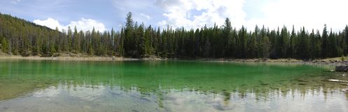 Panoramic lake Stock Photo