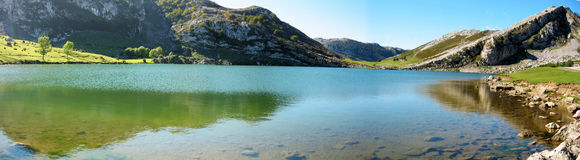 Panoramic Lake Enol Royalty Free Stock Image