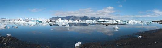 Panoramic lake Jokulsarlon Stock Photos