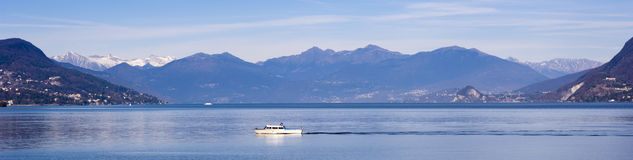 Panoramic Lake Maggiore landscape Stock Photos