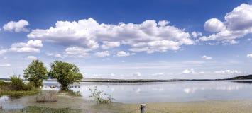 Panoramic lake. Royalty Free Stock Photography