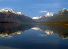 A Panoramic Lake Reflection Royalty Free Stock Photos