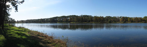 Panoramic of Lake Taylor Stock Photo
