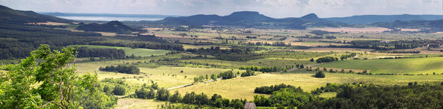 Panoramic landscape. About beautiful land Royalty Free Stock Photography