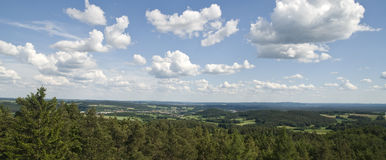 Panoramic landscape stock photo