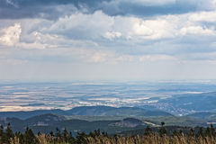 Panoramic landscape from Brocken Stock Images
