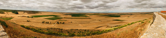 Panoramic landscape. Landscape of Castilla y Leon, Spain Stock Images