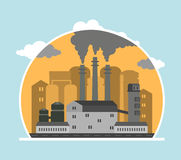 Panoramic landscape with concept pollution Stock Photography