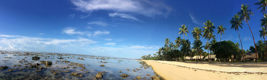 Panoramic landscape of the Coral Coast Fiji Stock Photography