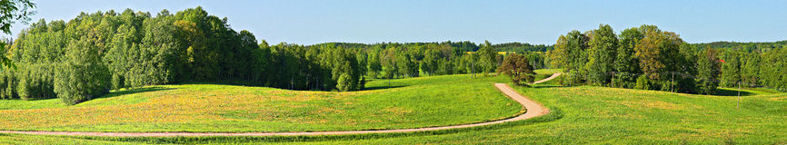 Panoramic landscape with country road. Stock Photography