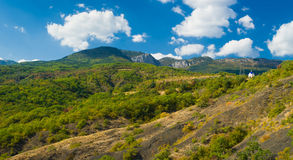 Panoramic landscape in Crimean mountains Royalty Free Stock Photography