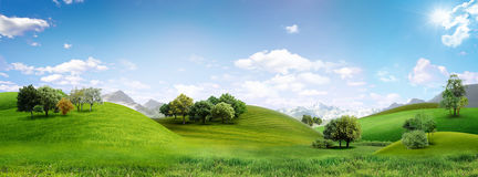 Panoramic landscape Royalty Free Stock Photos