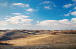 Panoramic landscape with hills Stock Photo