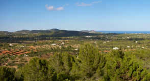 Panoramic landscape in Ibiza Stock Image