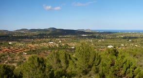 Panoramic landscape in Ibiza Stock Image