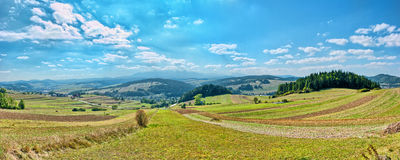 Free Panoramic Landscape In Pieniny Mountains Stock Photo - 27810180