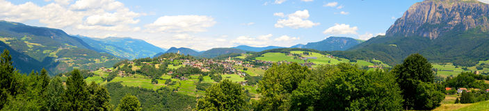 Panoramic landscape at Italian South Tyrol. Royalty Free Stock Photo