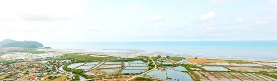 Panoramic landscape of Khao Sam Roi Yot National Park Stock Image