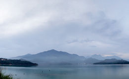 Panoramic landscape of lake Royalty Free Stock Photography