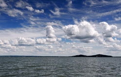 Panoramic landscape of Lake Balaton Stock Photos