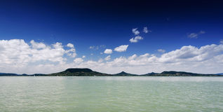 Panoramic landscape of Lake Balaton Stock Photo