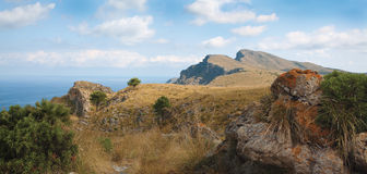 Panoramic landscape on Majorca Stock Photography