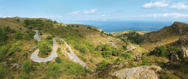 Panoramic landscape on Majorca stock image