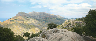Panoramic landscape on Majorca Stock Images