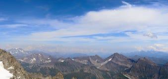 Panoramic landscape of Mont Blanc Stock Photos