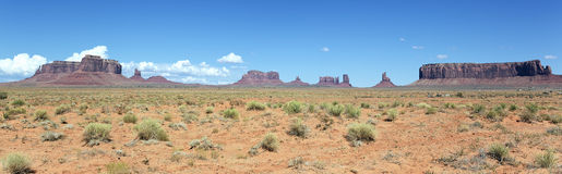 Panoramic landscape of Monument Valley Stock Images