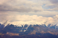 Panoramic landscape with mountains, Red Polyana. Sochi, Russia Stock Photography