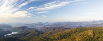 Panoramic landscape of mountains in Vietnam stock image
