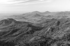 Panoramic landscape of mountains in Vietnam royalty free stock photography