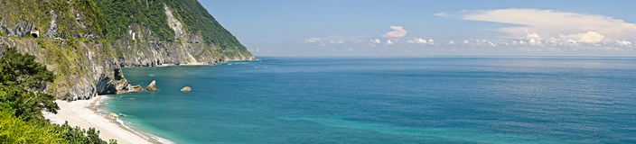 Panoramic landscape of ocean Royalty Free Stock Image