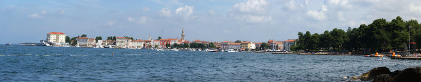Panoramic Landscape Of The Sea Stock Image
