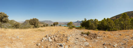 Panoramic landscape photo of Sierra de Grazalema. Royalty Free Stock Photography