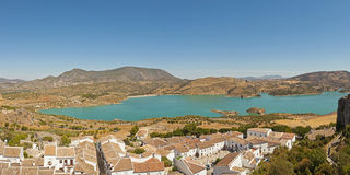 Panoramic landscape photo of Sierra de Grazalema. Stock Photography