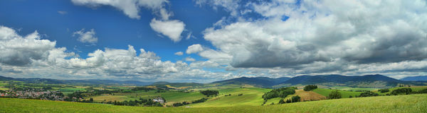 Panoramic landscape photo. Panoramic view of the landscape Stock Photos