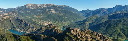 Panoramic landscape of Serra de Busa Stock Photography