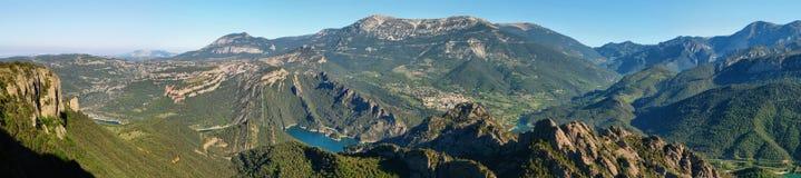Panoramic landscape of Serra de Busa Stock Images