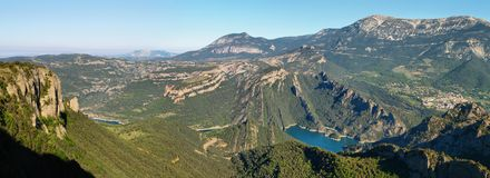 Panoramic landscape of Serra de Busa Stock Photos