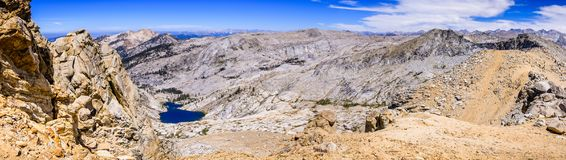 Panoramic landscape of the Sierra Nevada mountains royalty free stock photography