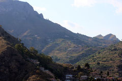 Panoramic landscape in Taormina, Sicily Royalty Free Stock Photos